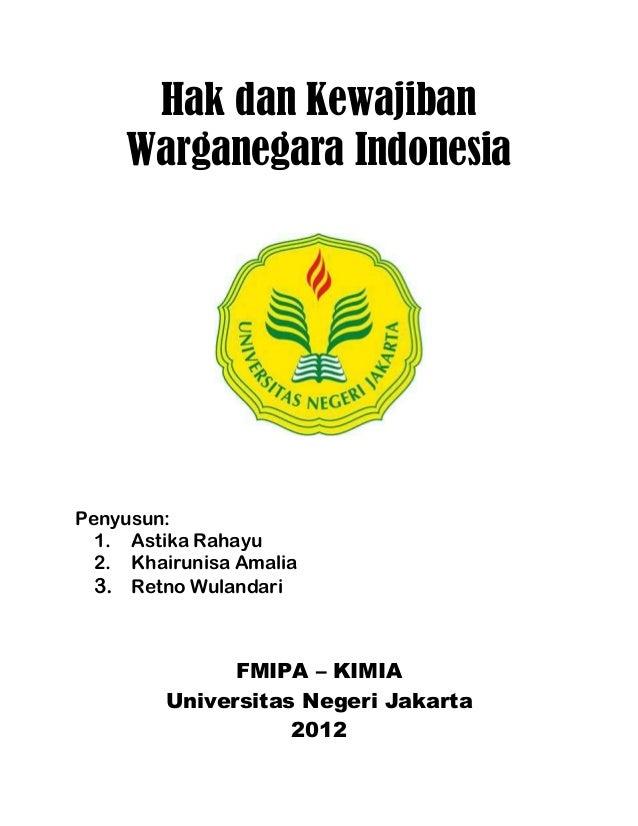 Hak Dan Kewajiban Warganegara Indonesia