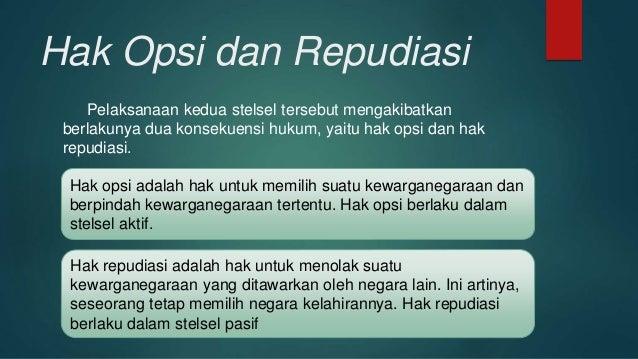 Pengertian Hak Opsi Dan Hak Repudiasi - Puspasari