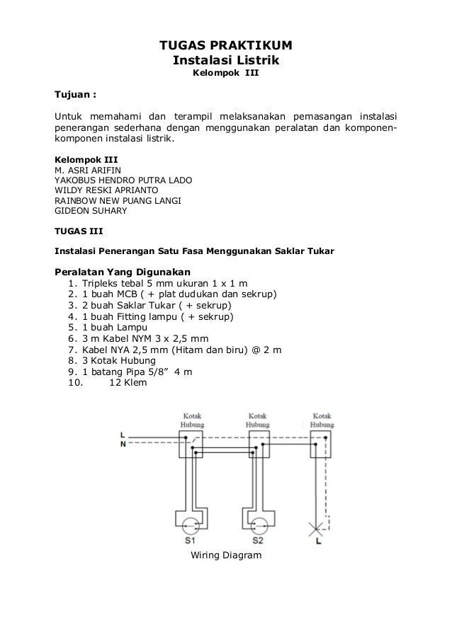 Tugas praktikum instalasi listrik 12 klem wiring diagram 3 tugas praktikum instalasi listrik cheapraybanclubmaster Choice Image