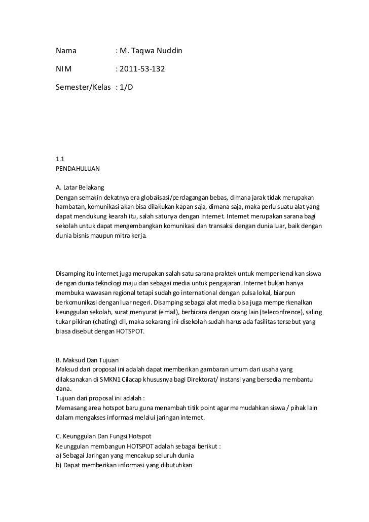 Nama                 : M. Taqwa NuddinNIM                  : 2011-53-132Semester/Kelas : 1/D1.1PENDAHULUANA. Latar Belakan...