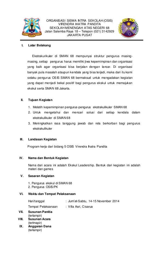 Proposal Ekstrakulikuler Leadership 2014 Osis Pk Vip