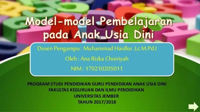 Model Pembelajaran Paud