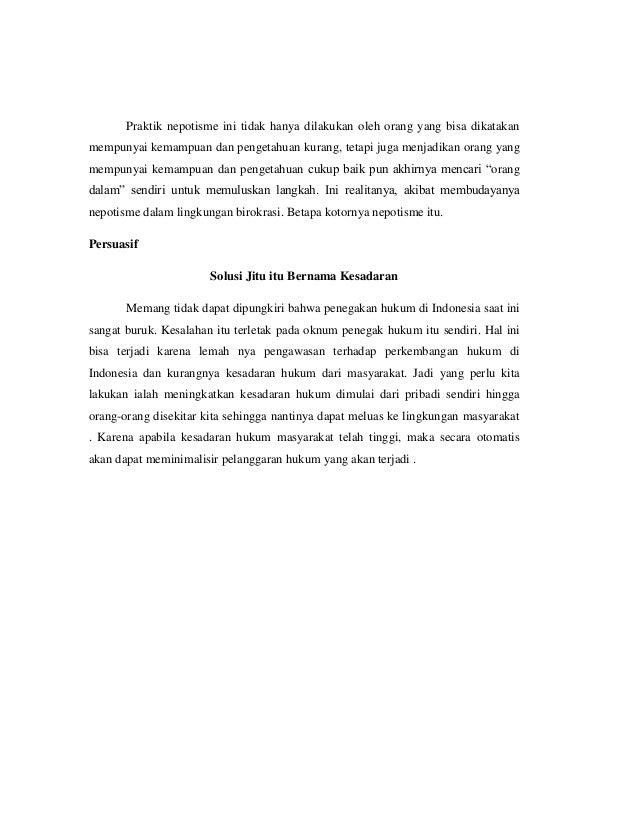 Contoh Paragraf Deskripsi Eksposisi Argumentasi Dan Persuasif Denga