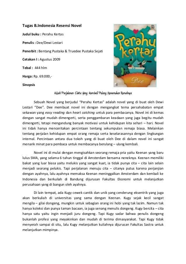 kumpulan resume novel