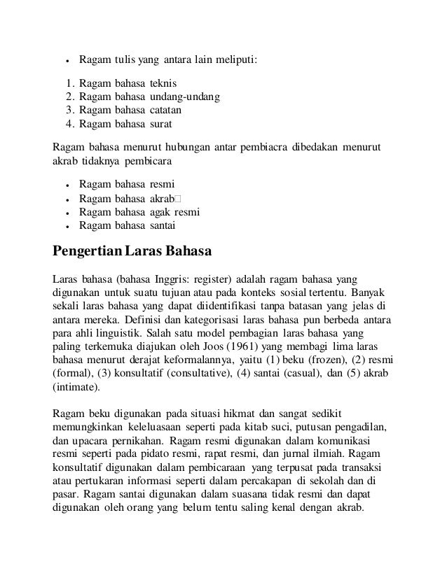 Tugas Resume Bahasa Indonesia