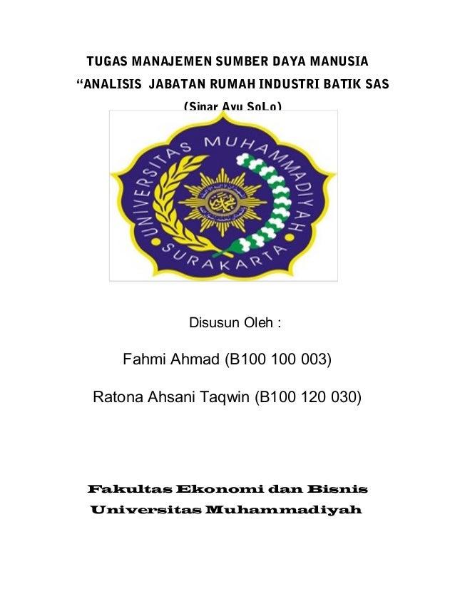 Tugas Makalah SDM Bpk.Mardalis FEB UMS