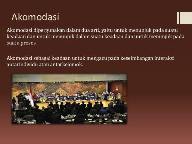 sosiologi akomodasi dan kerjasama