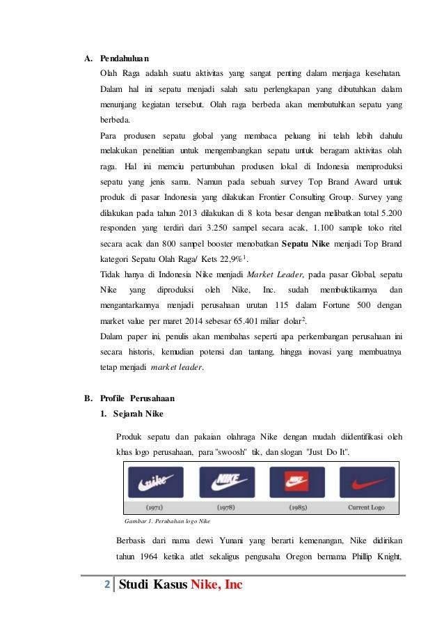 Tugas Paper Manajemen Pemasaran : Studi Kasus Nike,Inc Slide 2