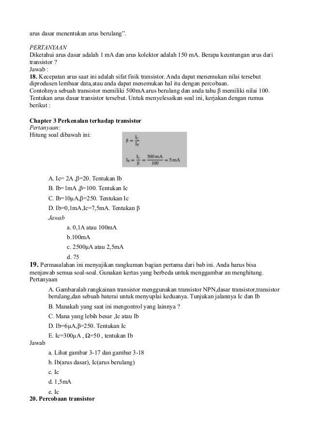 Soal Transistor Sebagai Saklar 28 Images Transistor Sebagai Switching Soal Menerapkan Dasar