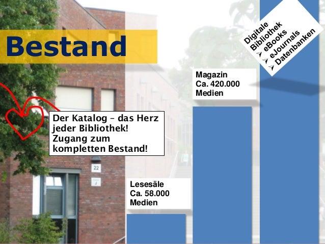 September 2017 Universitätsbibliothek, Thomas HapkeMartin Bilz Lesesäle Ca. 58.000 Medien Magazin Ca. 420.000 Medien Besta...