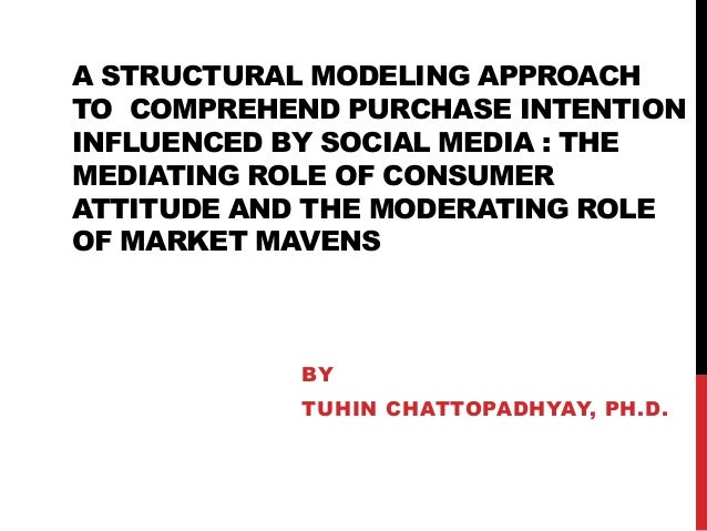 A STRUCTURAL MODELING APPROACH TO COMPREHEND PURCHASE INTENTION INFLUENCED BY SOCIAL MEDIA : THE MEDIATING ROLE OF CONSUME...