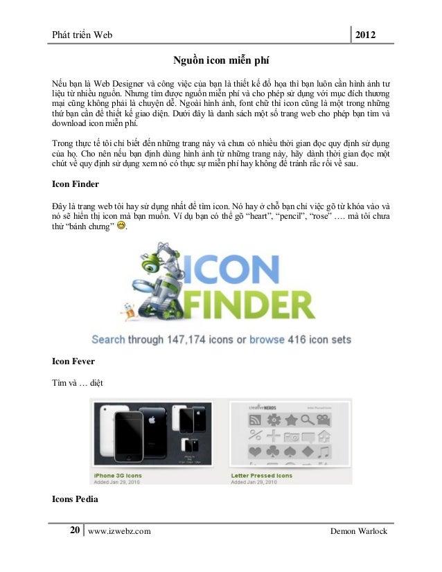 Phát triển Web 201220 www.izwebz.com Demon WarlockNguồn icon miễn phíNếu bạn là Web Designer và công việc của bạn là thiết...
