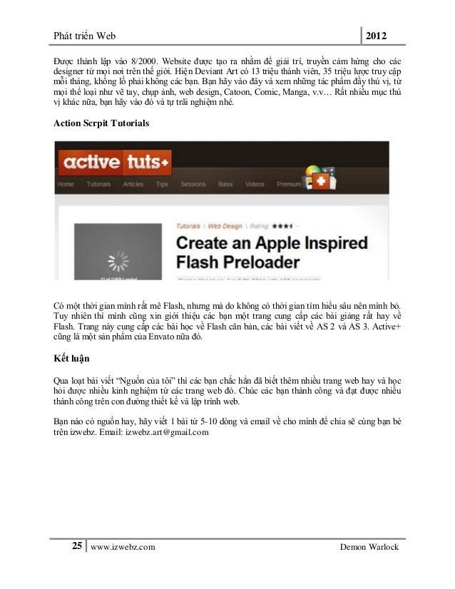 Phát triển Web 201225 www.izwebz.com Demon WarlockĐược thành lập vào 8/2000. Website được tạo ra nhằm để giải trí, truyền ...