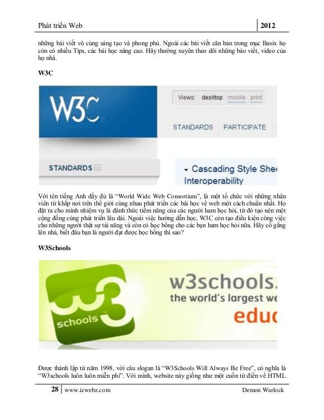 Phát triển Web 201228 www.izwebz.com Demon Warlocknhững bài viết vô cùng sáng tạo và phong phú. Ngoài các bài viết căn bản...