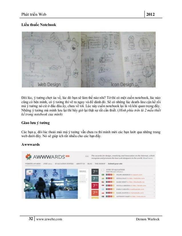 Phát triển Web 201232 www.izwebz.com Demon WarlockLiều thuốc NotebookĐôi lúc, ý tưởng chợt ùa về, lúc đó bạn sẽ làm thế nà...