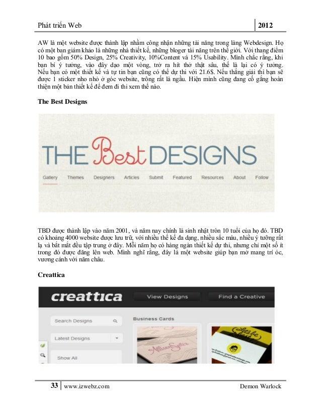 Phát triển Web 201233 www.izwebz.com Demon WarlockAW là một website được thành lập nhầm công nhận những tài năng trong làn...