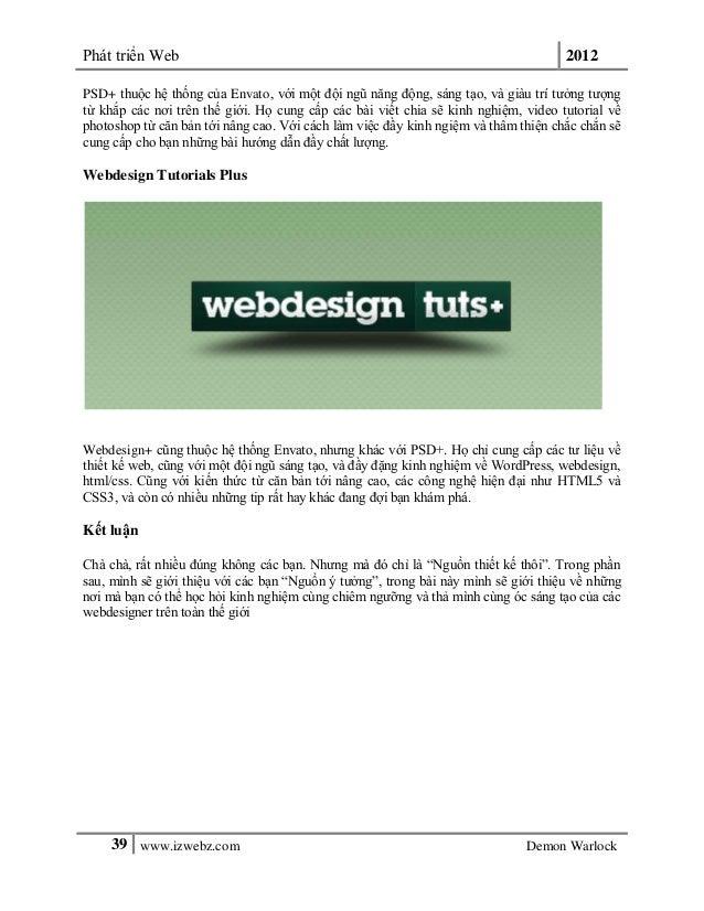Phát triển Web 201239 www.izwebz.com Demon WarlockPSD+ thuộc hệ thống của Envato, với một đội ngũ năng động, sáng tạo, và ...
