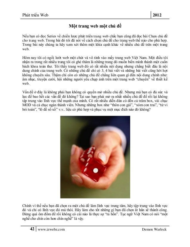 Phát triển Web 201242 www.izwebz.com Demon WarlockMột trang web một chủ đềNếu bạn có đọc Series về chiến lược phát triển t...