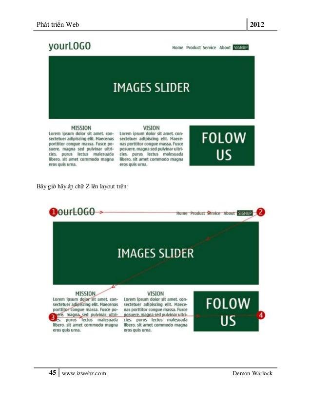 Phát triển Web 201245 www.izwebz.com Demon WarlockBây giờ hãy áp chữ Z lên layout trên: