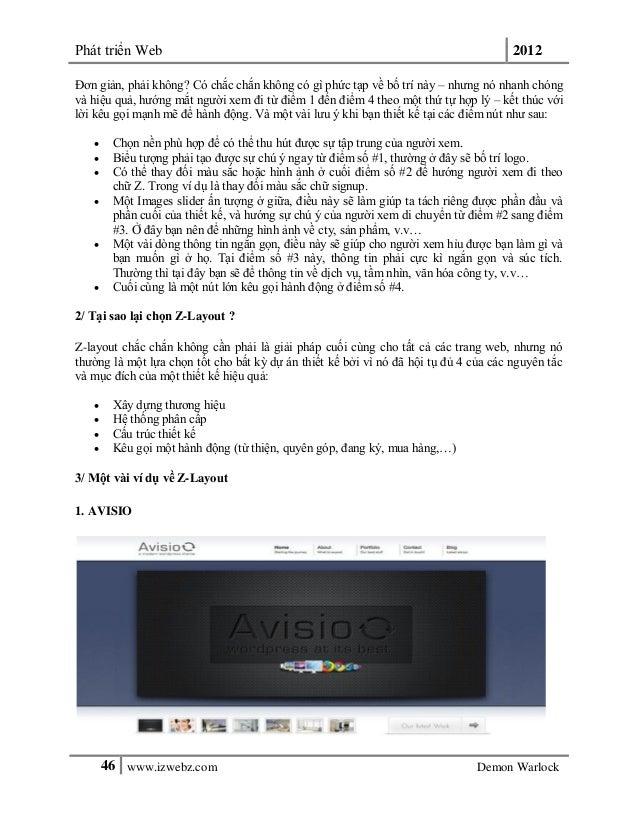 Phát triển Web 201246 www.izwebz.com Demon WarlockĐơn giản, phải không? Có chắc chắn không có gì phức tạp về bố trí này – ...