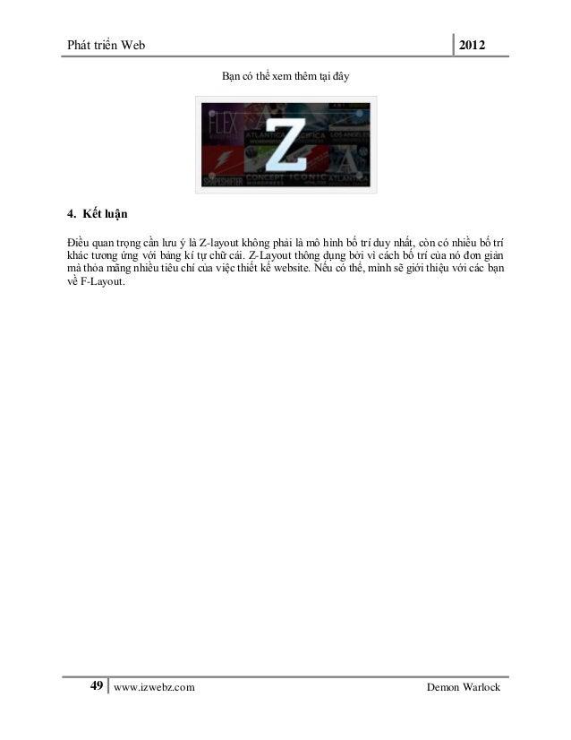 Phát triển Web 201249 www.izwebz.com Demon WarlockBạn có thể xem thêm tại đây4. Kết luậnĐiều quan trọng cần lưu ý là Z-lay...