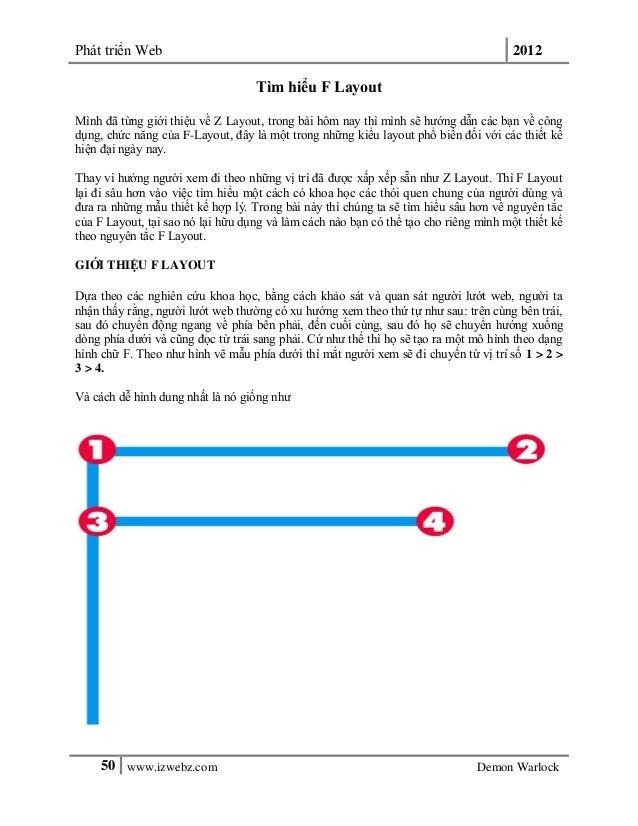 Phát triển Web 201250 www.izwebz.com Demon WarlockTìm hiểu F LayoutMình đã từng giới thiệu về Z Layout, trong bài hôm nay ...