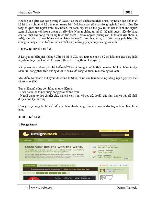 Phát triển Web 201255 www.izwebz.com Demon WarlockKhoảng các giữa các dòng trong F Layout có thể có chiều cao khác nhau, t...