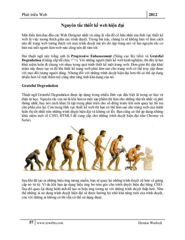 Phát triển Web 201257 www.izwebz.com Demon WarlockNguyên tắc thiết kế web hiện đạiMột điều làm đau đầu các Web Designer nh...