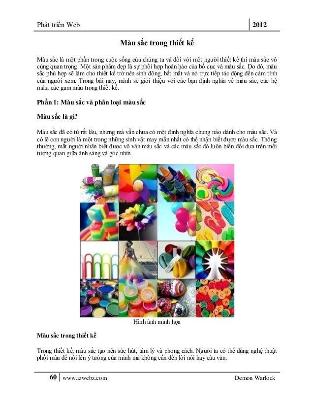 Phát triển Web 201260 www.izwebz.com Demon WarlockMàu sắc trong thiết kếMàu sắc là một phần trong cuộc sống của chúng ta v...