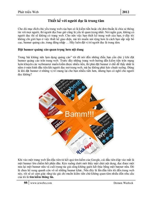 Phát triển Web 201266 www.izwebz.com Demon WarlockThiết kế với người đọc là trung tâmCho dù mục đích chủ yếu trang web của...