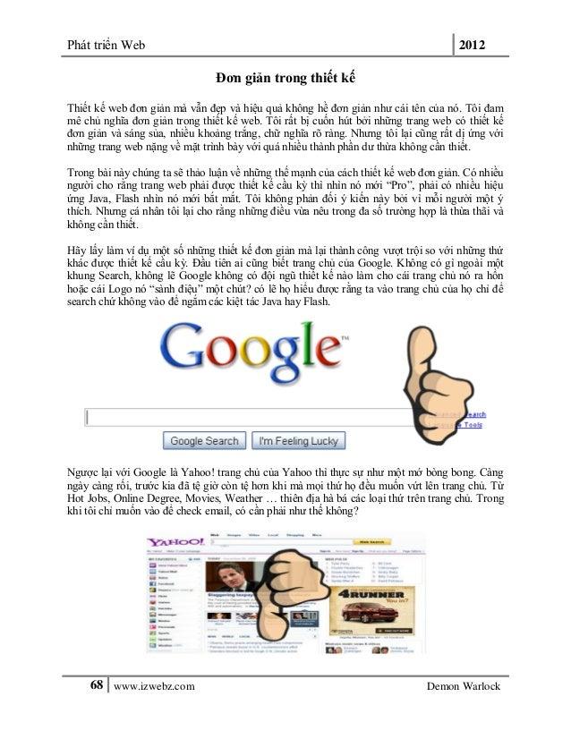 Phát triển Web 201268 www.izwebz.com Demon WarlockĐơn giản trong thiết kếThiết kế web đơn giản mà vẫn đẹp và hiệu quả khôn...