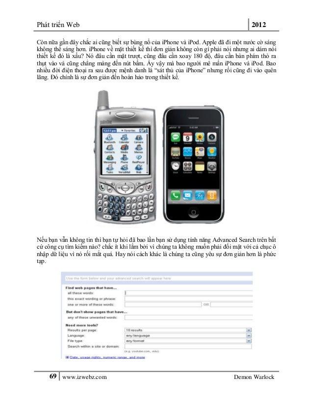 Phát triển Web 201269 www.izwebz.com Demon WarlockCòn nữa gần đây chắc ai cũng biết sự bùng nổ của iPhone và iPod. Apple đ...