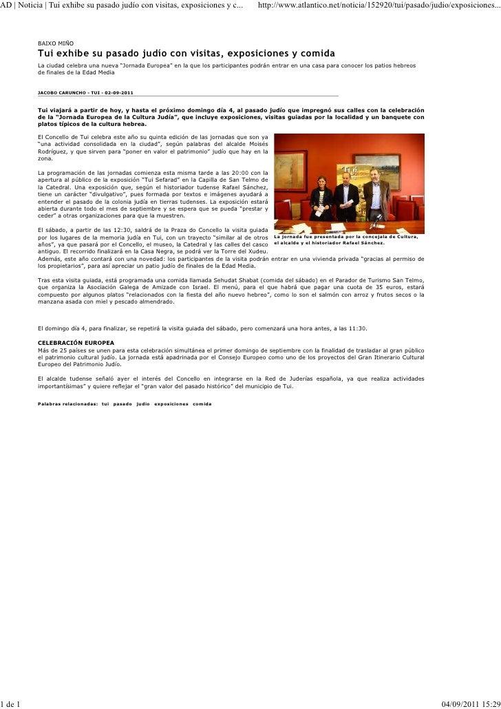 AD | Noticia | Tui exhibe su pasado judío con visitas, exposiciones y c...               http://www.atlantico.net/noticia/...