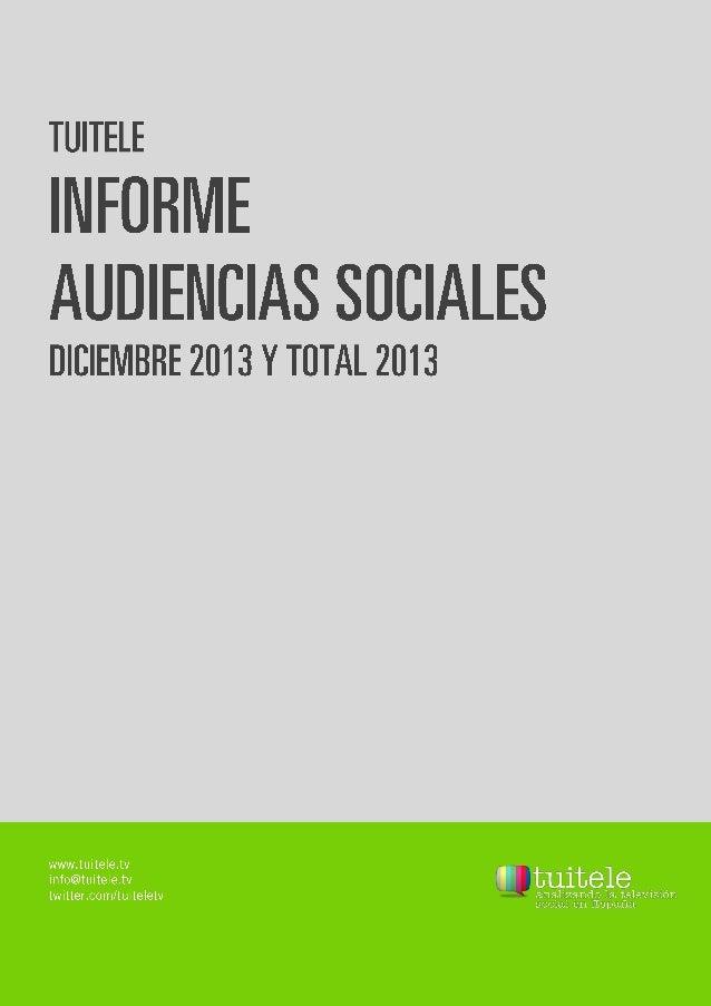 Informe mensual de audiencias sociales septiembre 2013