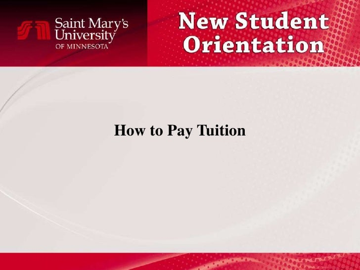 How to Pay Tuition