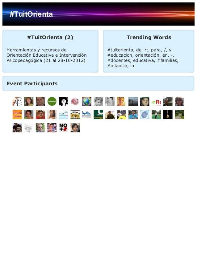 #TuitOrienta #TuitOrienta (2) Herramientas y recursos de Orientación Educativa e Intervención Psicopedagógica (21 al 28-10...