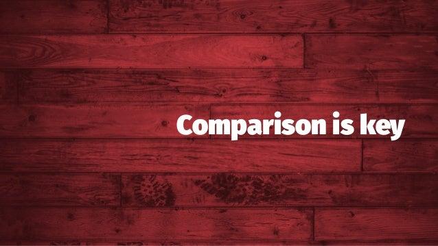 Comparison is key