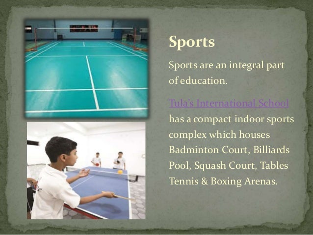 The Outdoor games consist of : •Synthetic basketball court •Synthetic lawn tennis court •Cricket •Football • Volleyball, •...