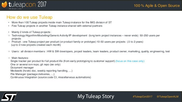 TuleapCon 2017-STMicroelectronics-Imaging-Division-Case-Study Slide 3