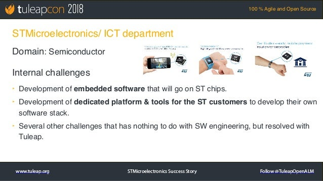 TuleapCon 2018. STMicroelectronics Success Story Slide 2