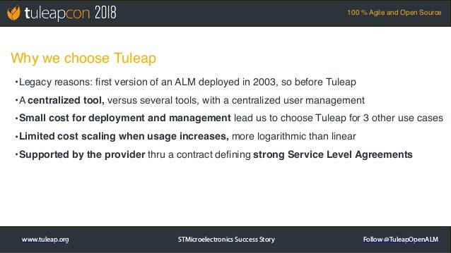 TuleapCon 2018. STMicroelectronics Success Story Slide 3