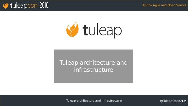 Tuleap architecture and infrastructure @TuleapOpenALM 100 % Agile and Open Source Tuleap architecture and infrastructure