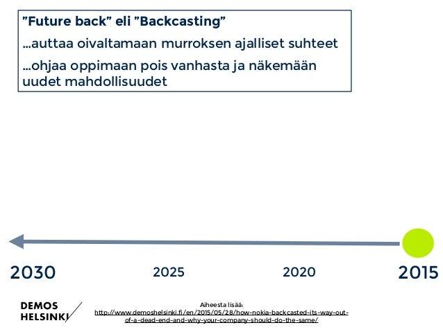 2030 2000 2030: Yhtä lähellä kuin 2000 TULEVAISUUSHORISONTIT 2010