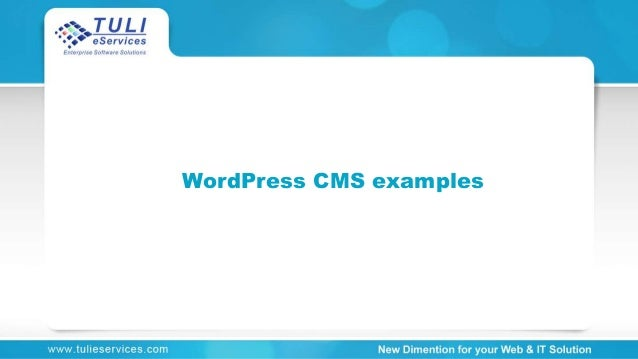 WordPress CMS examples