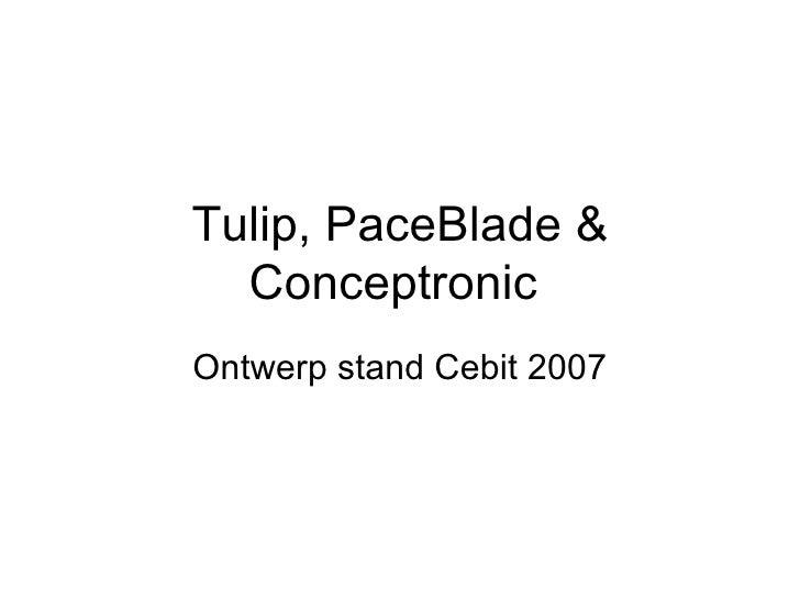 Tulip, PaceBlade & Conceptronic  Ontwerp stand Cebit 2007