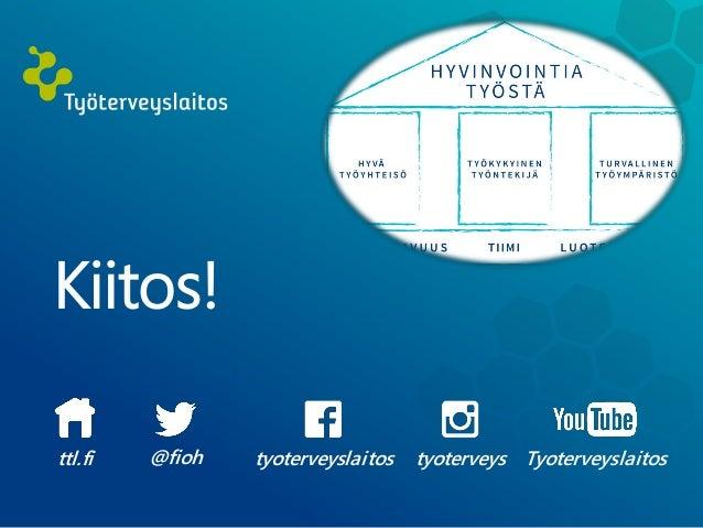 Kiitos! tyoterveyslaitos@fioh Tyoterveyslaitostyoterveysttl.fi