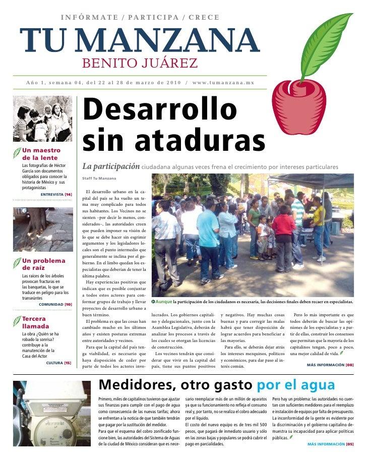 INFÓRMATE / pARTIcIpA / cREcE                                   BENITO JUÁREZ   Año 1, semana 04, del 22 al 28 de marzo de...