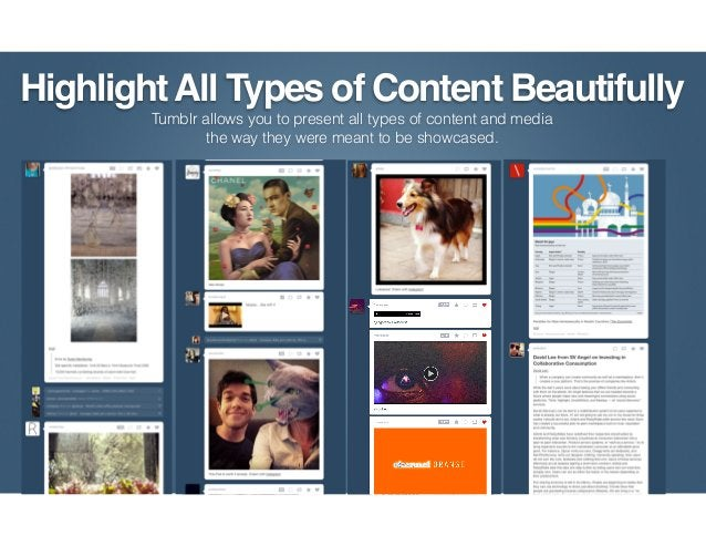 Engagement CentralTumblr's not just another social network. It can be a hub for all of your social activity. Engage the co...