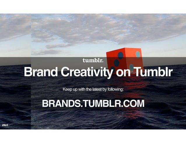 Tumblr's Danielle Strle presents Tumblr for Brands at Percolate's #SPEAKEASY #CMAD event