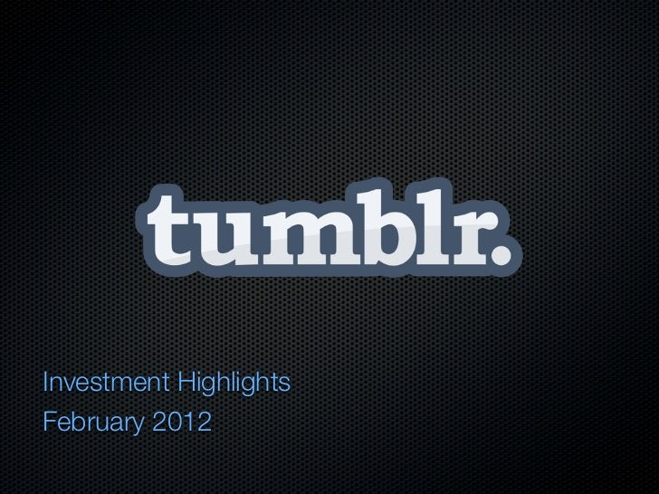 Investment HighlightsFebruary 2012